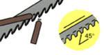 bandsaw nozzle position